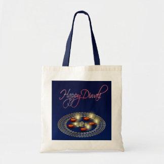 Glückliches Diwali Ganesha Rangoli - Budget-Tasche Tragetasche