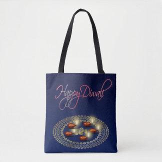 Glückliches Diwali Ganesha Rangoli - ganz vorbei - Tasche