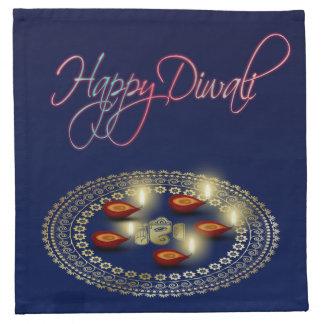 Glückliches Diwali Ganesha Rangoli - Stoffserviette
