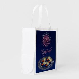 Glückliches Diwali Ganesha Rangoli - Wiederverwendbare Einkaufstasche