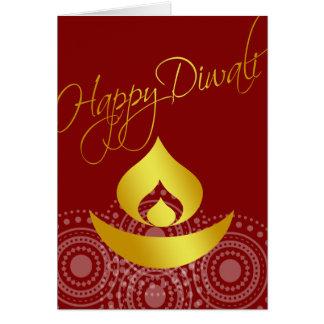 Glückliches Diwali Karte