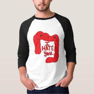 Glückliches Doppelpunkt-T-Stück Rot T-Shirt