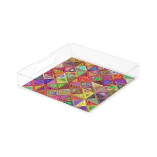 Glückliches Dreieckmosaik Acryl Tablett
