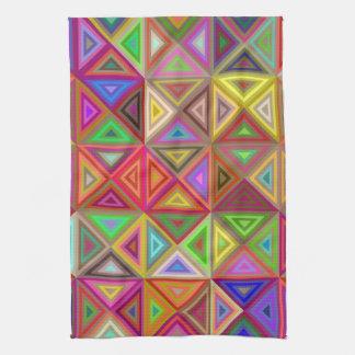Glückliches Dreieckmosaik Handtuch