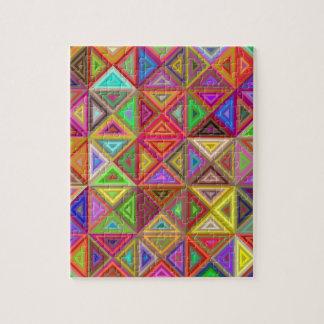 Glückliches Dreieckmosaik Puzzle
