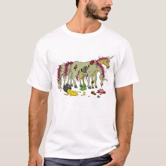 Glückliches Einhorn-Zombie-T-Shirt T-Shirt