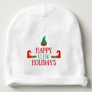 Glückliches Elfenfeiertags-Weihnachten Babymütze
