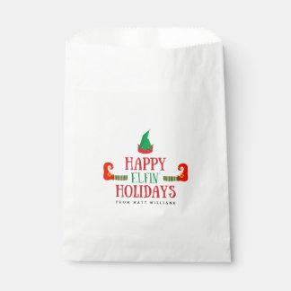 Glückliches Elfenfeiertags-Weihnachten Geschenktütchen