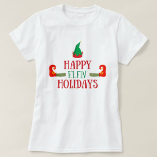 Glückliches Elfenfeiertags-Weihnachten T-Shirt