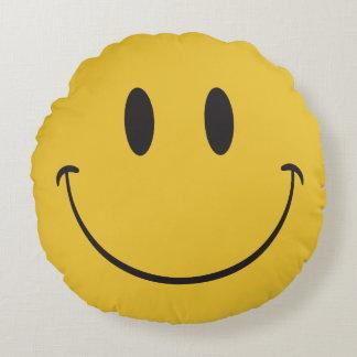 glückliches emoji rundes kissen