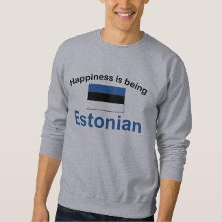 Glückliches estnisches sweatshirt