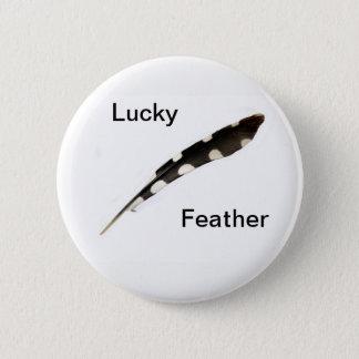 Glückliches Feder-Abzeichen Runder Button 5,7 Cm