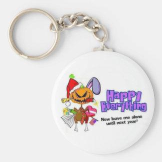Glückliches Feiertag-Glückliches All-Glückliches Standard Runder Schlüsselanhänger