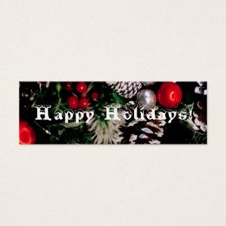 Glückliches Feiertags-Lesezeichen Mini Visitenkarte