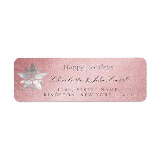Glückliches Feiertags-neues Jahr-Rosen-Goldgraue