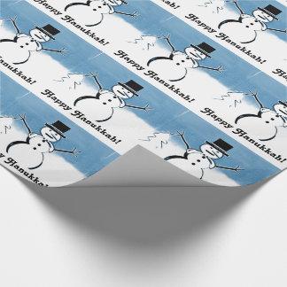 Glückliches Feiertagsnowman-Verpackungs-Papier Geschenkpapier