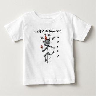 Glückliches festliches schwarze baby t-shirt