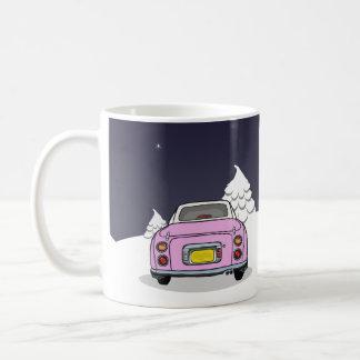 Glückliches Figmas - rosa Nissan Figaro Tasse