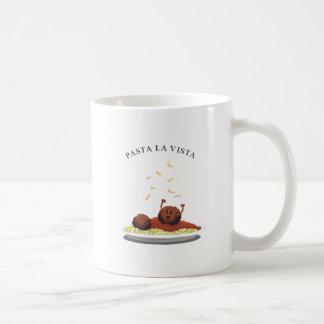 """Glückliches Fleischklöschen-""""Teigwaren-La Vista! """" Kaffeetasse"""