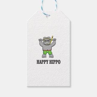 glückliches Flusspferdwasser Geschenkanhänger
