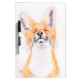 Glückliches Foxy Trockenlöschtafel