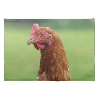 Glückliches freilaufendes Huhn Tischset