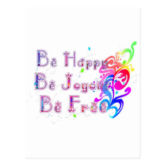 Glückliches freudiges und frei postkarte