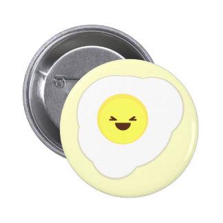 glückliches Frühstück kawaii Spiegeleien Runder Button 5,7 Cm