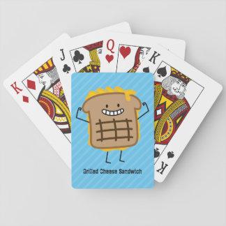 Glückliches gegrilltes Käse-Sandwich Pokerkarten