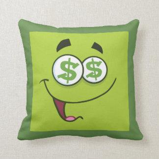 Glückliches Geld Emoji Kissen