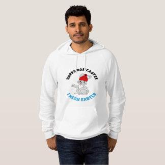 Glückliches gemeines Osterhasen-Shirt des Hoodie