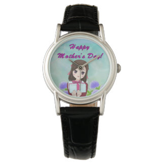 Glückliches Geschenk der Mutter Uhr
