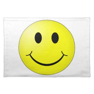 Glückliches Gesicht Stofftischset
