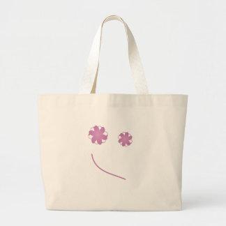 Glückliches Gesicht Einkaufstasche