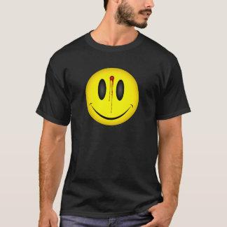 Glückliches Gesichts-Einschussloch T-Shirt