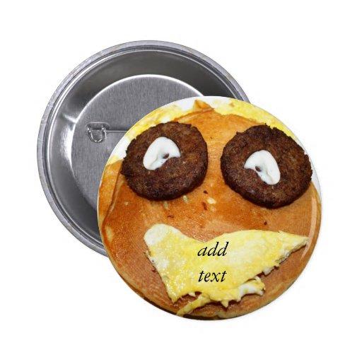Glückliches Gesichts-Frühstück Button