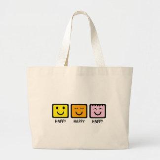 Glückliches glückliches glückliches leinentaschen