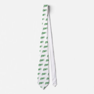 Glückliches grünes Logo Ostern Krawatte