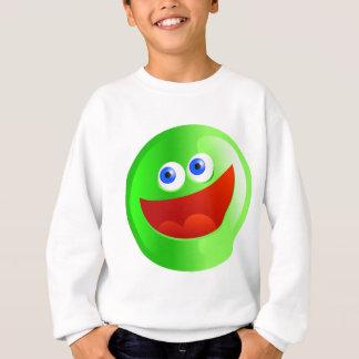 Glückliches grünes Smilie Sweatshirt
