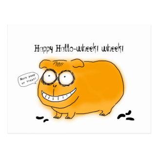 Glückliches Hallo-wheek wheek Postkarten