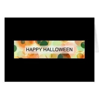 glückliches Halloween (bokeh) Karte