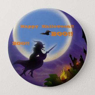 Glückliches Halloween-BUTTON!!!! Runder Button 10,2 Cm