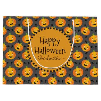 Glückliches Halloween. Glückliche Kürbis-Jack O Große Geschenktüte