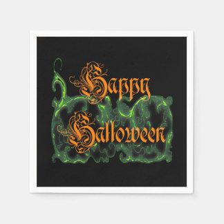 Glückliches Halloween-Grün Papierserviette