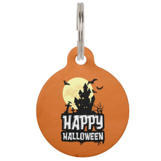 Glückliches Halloween Haustiermarke
