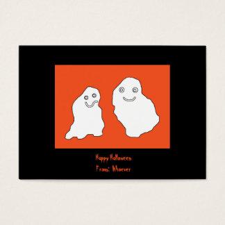 Glückliches Halloween kardiert Geister Visitenkarte