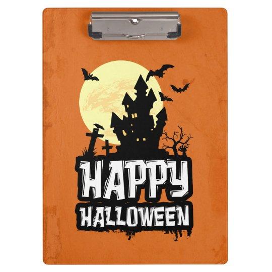 Glückliches Halloween Klemmbrett