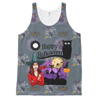 Glückliches Halloween Komplett Bedrucktes Tanktop