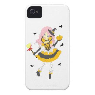 Glückliches Halloween-Kürbis-Mädchen iPhone 4 Case-Mate Hüllen