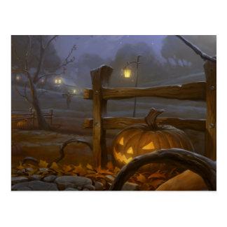 Glückliches Halloween - Kürbis Postkarte